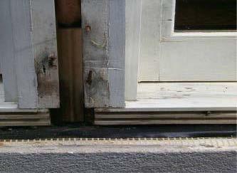 mullion can allow window moisture entry